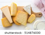 different kinds of cheeses on... | Shutterstock . vector #514876030