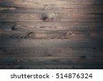 overhead view of wooden table ...   Shutterstock . vector #514876324