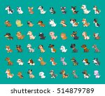 different type of cartoon dogs | Shutterstock .eps vector #514879789