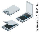 isometric vector scan document... | Shutterstock .eps vector #514883146