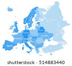 high detailed europe political... | Shutterstock .eps vector #514883440