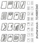 vector set of hand drawn door... | Shutterstock .eps vector #514885360