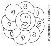 find the numbers from 1 to 9.... | Shutterstock .eps vector #514885744
