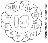 find the numbers from 1 to 15.... | Shutterstock .eps vector #514885750