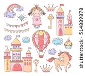 vector fairytale set with... | Shutterstock .eps vector #514889878