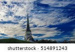 the spire of the tower of old... | Shutterstock . vector #514891243