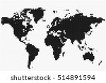 vector black and white map of... | Shutterstock .eps vector #514891594