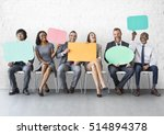 business team speech bubble... | Shutterstock . vector #514894378