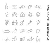 set of icons with food for... | Shutterstock .eps vector #514897528