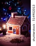 gingerbread house decorated... | Shutterstock . vector #514902013
