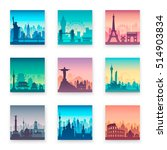 collection of famous city capes.... | Shutterstock .eps vector #514903834