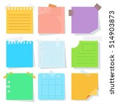 collection of various crumpled... | Shutterstock .eps vector #514903873