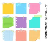 collection of various crumpled... | Shutterstock .eps vector #514903879