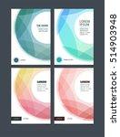 business vector set. brochure... | Shutterstock .eps vector #514903948