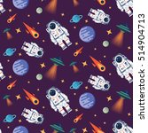 vector seamless pattern with... | Shutterstock .eps vector #514904713