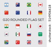 a set of vector flags for the... | Shutterstock .eps vector #514906618