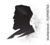 man head inky silhouette.... | Shutterstock .eps vector #514908763