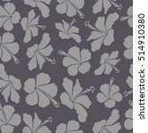 hibiscus seamless pattern.... | Shutterstock . vector #514910380