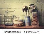 Vintage Cutlery On Rustic...
