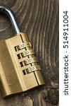 combination lock on a dark... | Shutterstock . vector #514911004