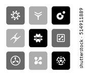 vector flat icons set  ... | Shutterstock .eps vector #514911889