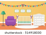 baby room interior with white... | Shutterstock .eps vector #514918030