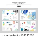 collection of trendy creative... | Shutterstock .eps vector #514919050