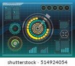 hud elements graph.vector... | Shutterstock .eps vector #514924054