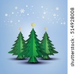 origami made christmas tree and ... | Shutterstock .eps vector #514928008