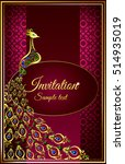 wedding invitation or card with ... | Shutterstock .eps vector #514935019