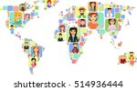 the concept of a world map with ... | Shutterstock .eps vector #514936444