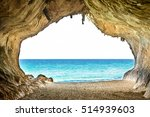 Big Empty Cave With Entrance T...
