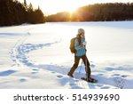 winter sport activity. woman... | Shutterstock . vector #514939690