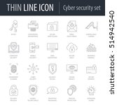 icons set of cyber security.... | Shutterstock .eps vector #514942540