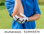 golfer elbow pain during the... | Shutterstock . vector #514945474