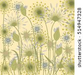 wildflowers background pale... | Shutterstock .eps vector #514947328