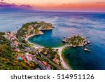 beautiful landscape of taormina ... | Shutterstock . vector #514951126