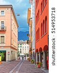 Small photo of Lugano, Switzerland - August 26, 2013: Via Nassa Street in the city center of luxurious resort Lugano in Ticino canton of Switzerland. People on the background.