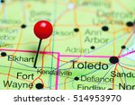 Kendallville pinned on a map of Indiana, USA