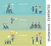 linear flat creative... | Shutterstock .eps vector #514954753