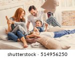young family being playful at... | Shutterstock . vector #514956250