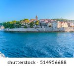waterfront view at town korcula ... | Shutterstock . vector #514956688
