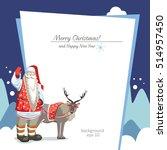 background winter christmas... | Shutterstock .eps vector #514957450