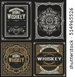 set whiskey labels.  | Shutterstock .eps vector #514965526