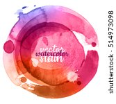 colorful abstract watercolor... | Shutterstock .eps vector #514973098