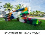 usa  florida  miami beach  ... | Shutterstock . vector #514979224