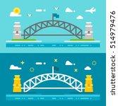 Flat Design Sydney Harbour...