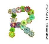 succulent letter r