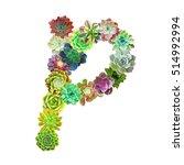 succulent letter p