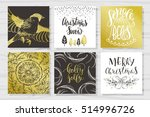 merry christmas invitation set.... | Shutterstock .eps vector #514996726